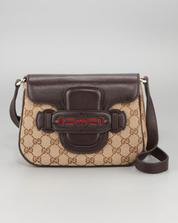 Gucci Dressage GG Flap Shoulder Bag, Medium