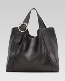 Gucci Large Ribot Tote Bag, Black
