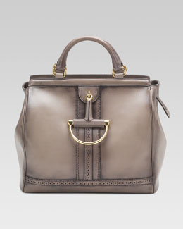 Gucci Duilio Top-Handle Horsebit Bag