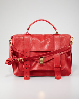 Proenza Schouler PS1 Medium Satchel Bag, Red
