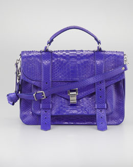 Proenza Schouler PS1 Python Shoulder Bag, Medium