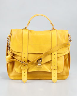 Proenza Schouler PS1 Large Satchel Bag, Mustard