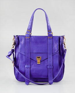 Proenza Schouler PS1 Leather Tote Bag, Purple Rain