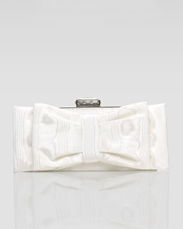 Judith Leiber Monica Bow-Covered Clutch Bag