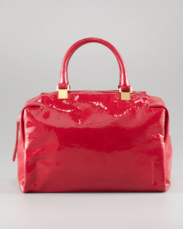 Lanvin Moon River Patent Bowler Bag