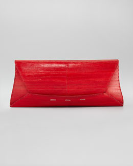 VBH Manila Eel Clutch Bag, Extra-Large