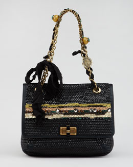 Lanvin Bijoux Sequined Happy Shoulder Bag