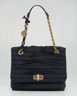 Lanvin Grosgrain Happy Shoulder Bag, Noir
