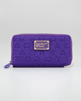 MARC by Marc Jacobs Dreamy Logo Zip Slim Wallet