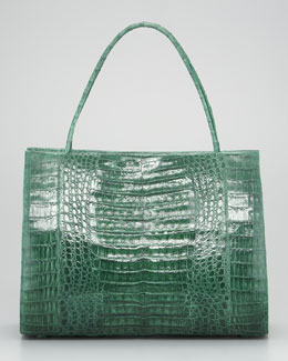Nancy Gonzalez East-West Crocodile Tote Bag