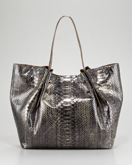 Nancy Gonzalez Crocodile and Python Tote Bag