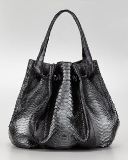 Nancy Gonzalez Python & Crocodile Knot Tote Bag