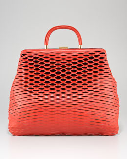 Marni Laser-Cut Satchel Bag