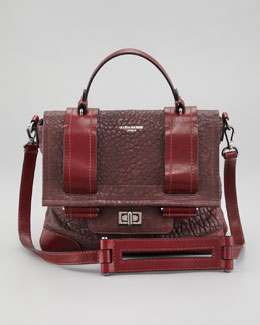 Olivia Harris Varick Pebbled Lambskin Satchel Bag