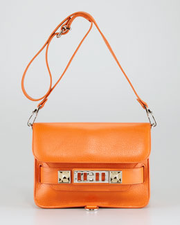 Proenza Schouler PS11 Mini Classic Leather Shoulder Bag, Orange