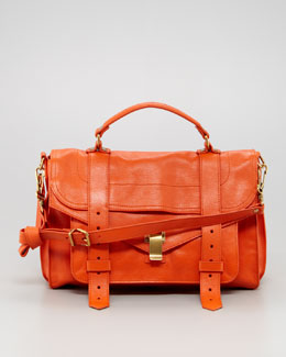 Proenza Schouler PS1 Medium Satchel Bag, Orange
