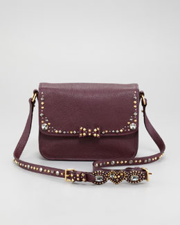 Miu Miu Madras Jewel Crossbody Bag, Bordeaux
