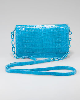 Nancy Gonzalez Crocodile Wallet on Chain, Cerulean