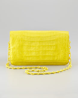 Nancy Gonzalez Chain Shoulder-Strap Front-Flap Clutch Bag