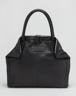 Alexander McQueen Leather De-Manta Tote Bag, Mini