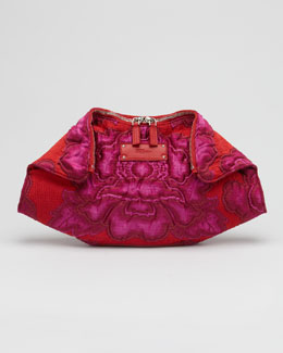 Alexander McQueen De-Manta Big Flower Clutch Bag