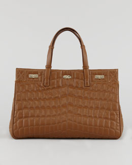VBH Vault Croc-Quilted Satchel Bag
