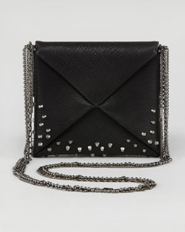 VBH Origami Studded Square Crossbody Bag