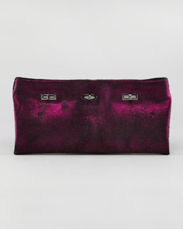 VBH PM Metallic Calf Hair Clutch Bag