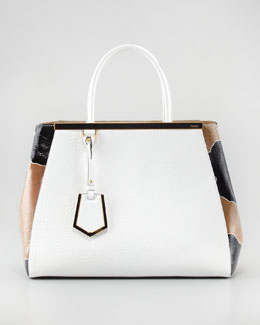 Fendi 2Jours Patent Calfskin Medium Tote Bag