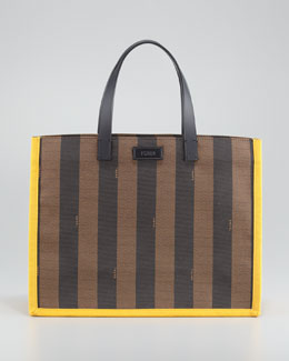 Fendi Pequin Shopping Tote Bag, Small, Sunflower/Tobacco