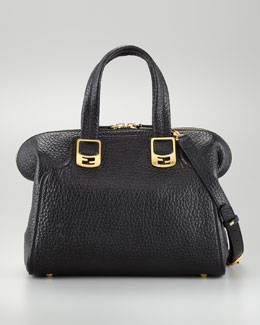 Fendi Chameleon Small Tote Bag, Black