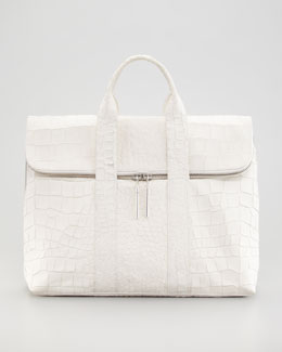 3.1 Phillip Lim Crocodile-Embossed 31-Hour Bag
