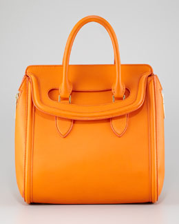 Alexander McQueen Medium Heroine Satchel Bag, Orange
