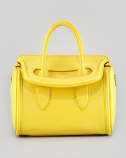 Alexander McQueen Small Heroine Satchel Bag, Bright Yellow