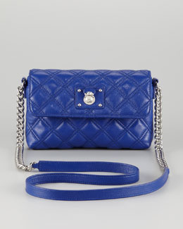 Marc Jacobs Single Quilted Large Crossbody Bag, Blue