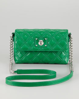 Marc Jacobs Single Quilted Large Crossbody Bag, Green