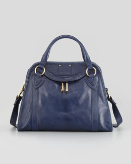 Marc Jacobs Classic Wellington Satchel Bag, Navy