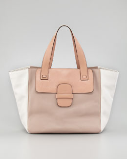 Marc Jacobs Lambskin Paneled Tote Bag, Make-Up