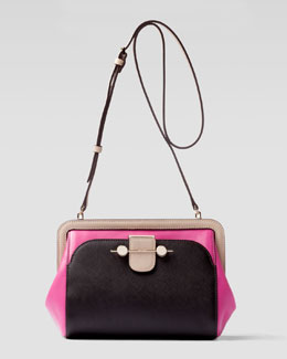 Jason Wu Daphne Colorblock Crossbody Bag, Brown/Magenta