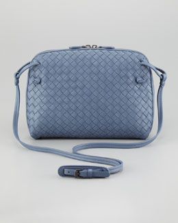 Bottega Veneta Veneta Small Crossbody Bag, Blue