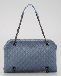 Bottega Veneta Veneta Small Shoulder Bag, Blue