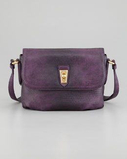 MARC by Marc Jacobs Lizzie Spotless Embossed Crossbody Bag, Bright Purple