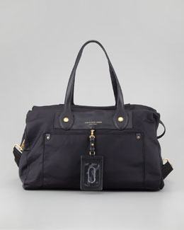 MARC by Marc Jacobs Preppy Nylon Weekender Satchel Bag, Black