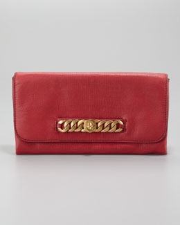 MARC by Marc Jacobs Katie Snake-Embossed Bracelet Clutch Bag, Lipstick Red