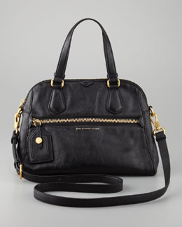 MARC by Marc Jacobs Globetrotter Mini Rei Satchel Bag, Black