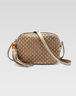 Gucci Sunshine Metallic Microguccissima Disco Bag, Champagne