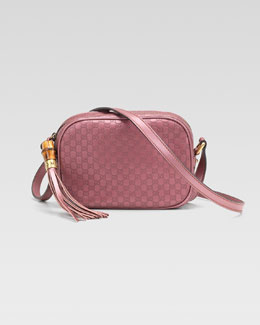 Gucci Sunshine Metallic Microguccissima Disco Bag, Vintage Rose