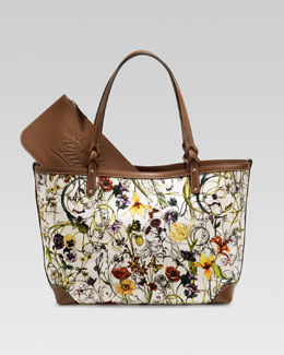 Gucci Craft Floral Canvas Tote