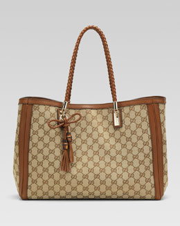 Gucci Bella Original GG Canvas Tote, Cuir