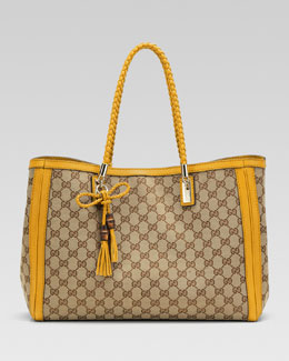 Gucci Bella Original GG Canvas Tote, Bumblebee